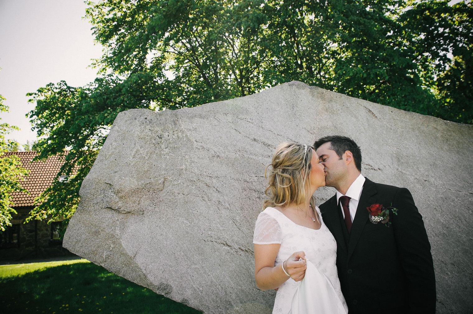 Bröllopsfoto vid Klippans kulturreservat Göteborg