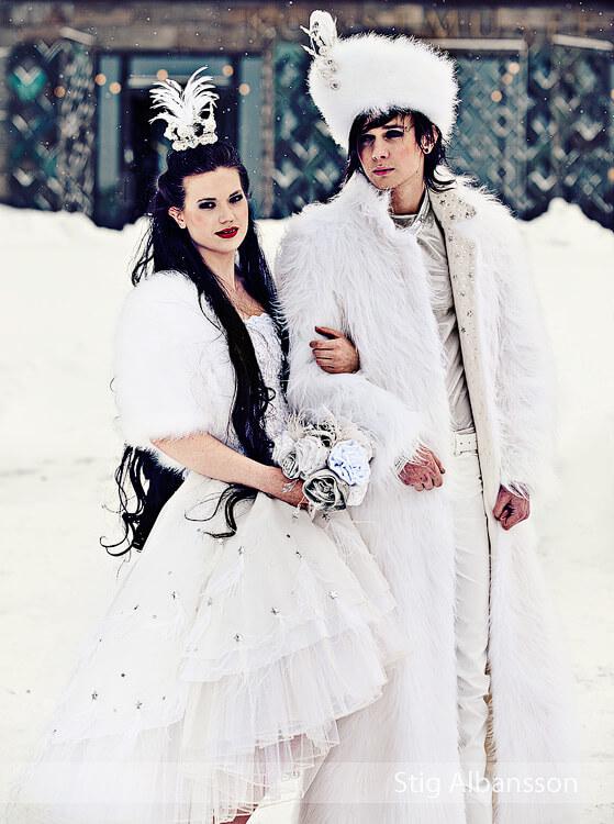 Modellbild från bröllopsmässan i Göteborg. En kollektion kallad Time´s Time beskrev de olika årstiderna.