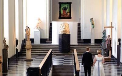 Bröllopsfoto på Konstmuséet Göteborg