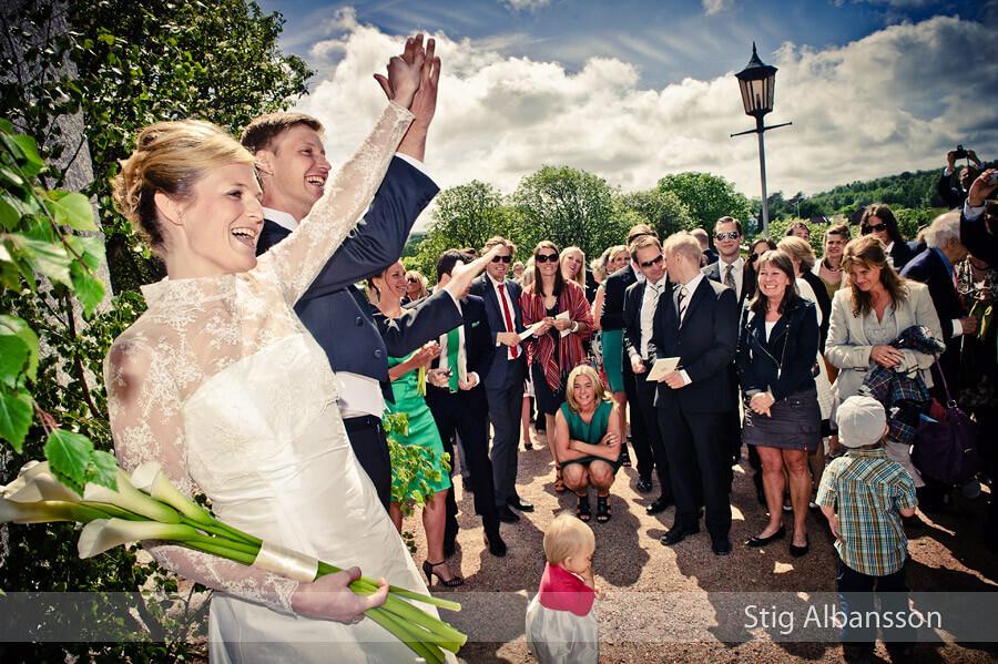 Bröllopsfoto Morlanda kyrka