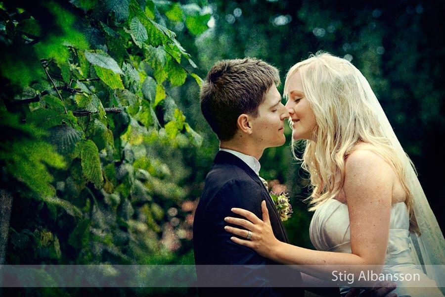 Brudpar vid fotografering Styrsö