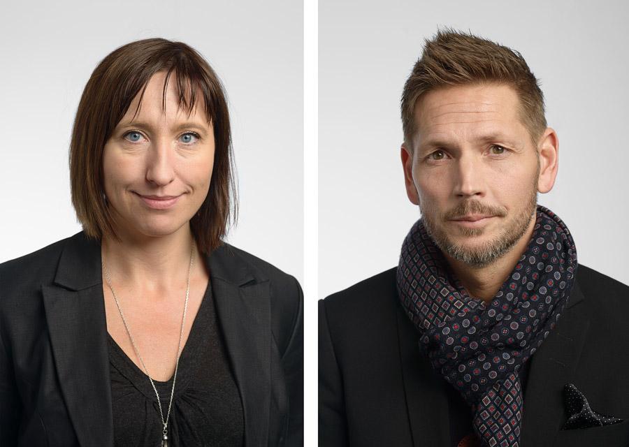 Porträttfoton till Enfos årsredovisning, fotograferade på plats på deras Göteborgskontor.