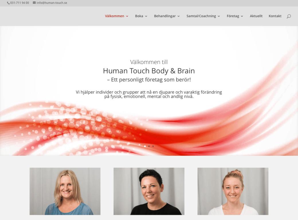 Ny hemsida till Human Touch body & brain